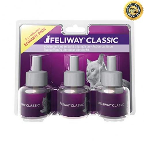 Ceva Feliway Classic Pack De 3 Recharges Décontractant Pour Chat 48 (classic)