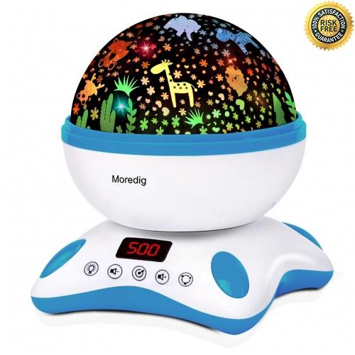 Moredig Starry Sky Projector Light, Music Night Light, 360 (Schwarz und Weiß)